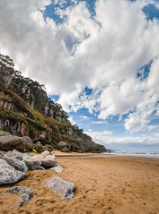 Acantilado (La ora) - Panormica (Julin Martn Jimeno) Tags: panorama espaa costa mar nikon pano sigma asturias playa panoramica gijon villaviciosa cantabrico 2016 asturiana ora playadelaora d7000