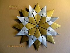 Sarah's Star by Evan Zodl (UR Fleurogami) Tags: star origami sarahs stern quadrat evanzodl modularorigamistar sarahsstar