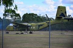 DSC_0929 (LoxPix2) Tags: clouds vintage landscape airport aircraft australia queensland nomad caribou oakey loxpix australianarmyflyingmuseum