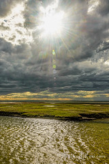 Bursting Through In Yarmouth (KAM918) Tags: sky sun beach water weather clouds ma spring nikon massachusetts sunburst through yarmouth grays bursting d610
