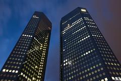 Deutsche_Bank_Frankfurt_Tuerme (Sascha Selli) Tags: skyscraper germany deutschland frankfurt bank hochhaus wolkenkratzer