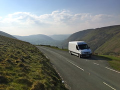 Mercedes Sprinter (Paul.Bevan) Tags: uk man mountains grass tarmac wales landscape outdoors mercedes benz view photos random cab bluesky cargo hills delivery dodge express snowdonia broad freight beautifulview bala myview verge whitevan merc panelvan greengrass whitelines scenicroute sprinter denbighshire lwb snowdonianationalpark sameday spedition welshvalleys frongoch vanman b4391 bd58exm sightsoutontheroad