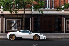 White-Gold (AaronChungPhoto) Tags: london car ferrari knightsbridge supercar v8 speciale 458 sloanestreet 458speciale