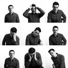 Dmitri collage (drkillbasa) Tags: portrait blackandwhite cinema man collage theatre actor portfolio