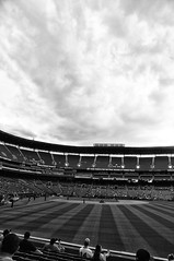 Turner Field - Atlanta, Georgia (fisherbray) Tags: atlanta bw usa game sports monochrome georgia al nikon unitedstates baseball stadium atl sox redsox nl braves turnerfield bostonredsox atlantabraves hotlanta bosox americanleague nationalleague fultoncounty d5000 silverefexpro fisherbray
