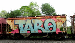 (timetomakethepasta) Tags: taro tars aa aak freight train graffiti wholecar gnwr hopper rusty
