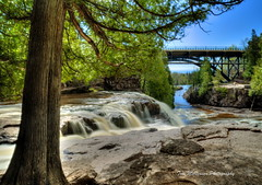 Upper Gooseberry Falls (Tom Mortenson) Tags: statepark longexposure usa nature minnesota digital america canon geotagged midwest scenery scenic falls greatlakes waterfalls northamerica flowing canoneos lakesuperior hdr northwoods northernminnesota gooseberryfalls flowingwater photomatix 24105l tonemapping minnesotastatepark gooseberryriver greatlakesregion uppergooseberryfalls minnesotawaterfalls lakesuperiorregion