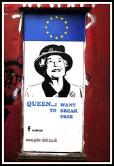 Queen- I want to break free! (tim constable) Tags: brussels streetart leave against bristol stencil election funny humorous propaganda lol joke famous political politics eu icon humour queen bedminster anti rockband viewpoint iconic queenelizabeth2 royalty europeanunion position qe2 pun withdraw southville 2016 southbristol impartial songtitle takingsides jondoh eureferendum timconstable voteleave