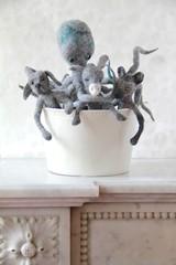 horror octopus (swig - filz felt feutre) Tags: sculpture dog chien wool oneofakind felt hund swig laine filz tintenfisch wolle pieuvre poulpe feutre unikat piceunique
