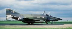 """RF-4C, SW 66-389, 16 TRS, deployment """"Salty Bee '86"""", Alconbury AFB, 25 July 1986 (Anne Fintelman) Tags: rf4c rafalconbury 16trs alconburyafb 16tacticalreconnaissancesquadron deploymentsaltybee86 sw66389"""