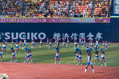 pre-match (ken_tsuda) Tags: japan lens prime nikon cheerleaders baseball tigers match f2 yokohama hanshin 200mm f20 prematch d810 kentsuda baysters 20160515h200mmbaseball7832