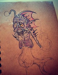 BioFish Original WIP (ZZFX) Tags: detail art film pencil dark painting paper weird sketch scary paint artist drawing vampire zombie character horror create concept spawn fx darkart spfx zzfx