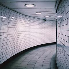 Ceramic (Olly Denton) Tags: uk 6 london apple lines architecture train underground subway ceramic lights design mac path interior transport tube tunnel tiles walkway transit ios nottinghill iphone kensingtonchelsea nottinghillgatestation vsco iphone6 vscocam
