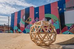 Artscape 2016 (Dave Fine) Tags: festival art wooden md city baltimore circle artfestival unitedstates outside shape sphere bmore outdoors usa maryland geometry artscape