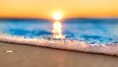 Sunrise Wednesday 27th July 2016 (Michael.Sutton) Tags: cronulla beach sydney australia winter sunrise water ocean blue orange yellow therealshire seeaustralia