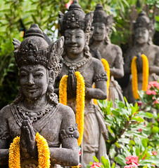 Spirituality (TablinumCarlson) Tags: viharadharmagiri tabanan budha temple tempel dof indonesia indonesien bali asien asia baum tree durchgang entry leica m8 summicron westbali pflanze 50mm treppe steps blumenschmuck flower spirituality