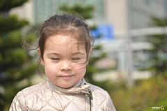 Rebellious Strands (Andy Brandl (PhotonMix.com)) Tags: portrait people girl childhood hair wind joy nika closedeyes photonmix