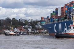 CMA CGM COLUMBA - 20150413-SNE_1953 (Sascha Neuroth) Tags: harbor hamburg container tug hafen schiff cgm elbe schiffe cma schlepper columba containerschiff frachter bugsier7 bugsier8