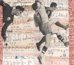 play on (kurberry) Tags: collage football soccer cutpaste vintagecollage vintageephemera