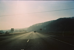 (Matthew Willsea) Tags: road old trip columbus ohio sky sun sunlight film window car fun photography drive highway december day driving athens hills mans freeway cave hocking tripping