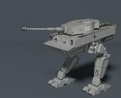 Tiger_Mech_Render_Final_1 (Sunder_59) Tags: 3d tank render tiger blender mecha mech panzer