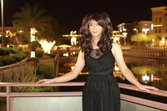 Promenade 3 (AsianDesert) Tags: black sexy dress cross nightout mary transgender thigh heels hi crossdress janes classy blackdress highs thighhi