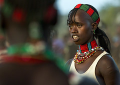 Bashada Tribe Woman, Dimeka, Omo Valley, Ethiopia (Eric Lafforgue) Tags: africa people horizontal hair outside outdoors photography community colorful day outdoor african ceremony culture tribal celebration ornament bead omovalley braids ethiopia tribe ethnic hairstyle 2people twopeople anthropology hamar developingcountry braid hamer headdress braided hammar headwear hornofafrica ethnology ethiopian omo eastafrica realpeople beadednecklace colorpicture redochre dimeka turmi africanethnicity indigenousculture onlywomen bullleaping bashada southethiopia bulljumping colourpicture omorivervalley ethiopianethnicity ethio1402920
