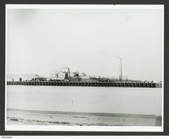 View of Ocean Steamers Wharf, Port Adelaide from Birkenhead (paelocalhistory) Tags: places birkenhead wharves portriver oceansteamerswharf statelibrarysacollection