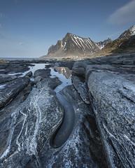 Lofoten-rock pools (jerry_lake) Tags: norway reflections rockpools lofotenislands vikten nikon1424mmf28 lee09ndgrad