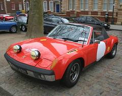1970 PORSCHE 914 (shagracer) Tags: bhy148h porsche 914 german sports car automobile vehicle 2seater classic breakfast club bristol square queen avenue meet adc drivers