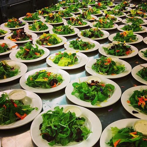 #sitdowndinner #100salads #edibleflowers #nomnom