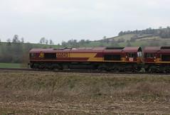 66043 General Motors Class 66 Co-Co, DB Schenker, Newton Meadows, Bath, Somerset (Kev Slade Too) Tags: bath coco convoy class66 ews 66043 dbschenker newtonmeadows 056i