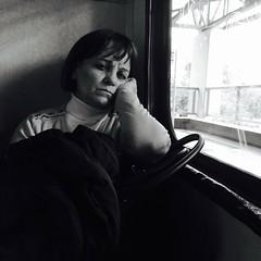 See Through (Giannis_Drakos) Tags: portrait people urban blackandwhite bw woman art 120 6x6 monochrome face underground streetphotography eerie athens greece squareformat melancholy iphoneography giannisdrakos