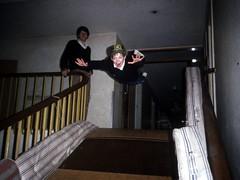 Flying Boy (the justified sinner) Tags: boy macro 35mm 1 hall flying kent md minolta slide scan panasonic staircase 50 35 copier londonuniversity wyecollege rokkor gh2 autobellows withersdane justifiedsinner