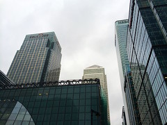 Canary Wharf (gblaxos) Tags: london buildings skyscrapers wharf canary hsbc fitch citi