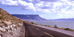Lake Abert, OR - Highway 395 - 1973 (tonopah06) Tags: oregon drive cattle or outback kodachrome 1973 abertrim southeastoregon lakeabert