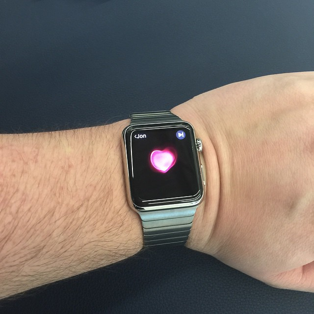 Me sending my #heartbeat to Jon? #AppleWatch  #Apple #watch.