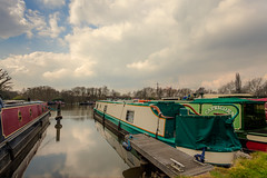 Pyrford Marina III (inkslinger15) Tags: sky water clouds marina boats hdr wisley barges bracketed promotecontrol