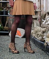 Photo of Crepe Skirt & Heels