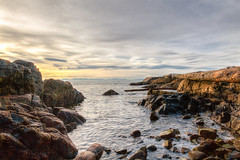 Opening Outward (michaelnugent) Tags: ocean park blue sunset lighthouse canada mountains water rock vancouver canon lens landscape eos scenery bc mark north shoreline columbia ii shore l 5d british 24 mm 105 parc ef