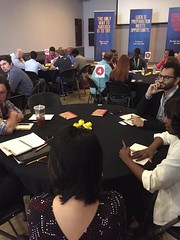 Louisiana StartUp Prize round tables covering all the bases: marketing, legal, accounting. Could someone in this photo be our $70,000 Startup Prize winner? #LaStartupPrize