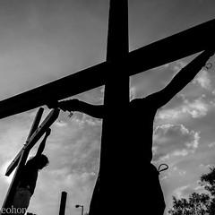 Fotografa de Hoy / Todays Photo (eohoneye) Tags: santa bw mxico df san juan semana 1x1 fotografa 2015 viacrucis ixtapaluca