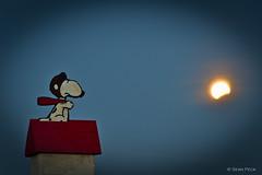 To The Moon (Sean Peck) Tags: sanfrancisco moon night berkeley eclipse full fullmoon snoopy bayarea vignette sfbay redbaron