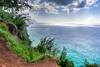 Na Pali Coast HDR (pbuschmann) Tags: nature landscape hawaii hiking kauai rockclimbing hdr napali keebeach kailuatrail