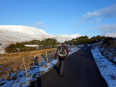 """On the road to Neuadd Reservoir, with the Brecon Beacons up ahead • <a style=""""font-size:0.8em;"""" href=""""http://www.flickr.com/photos/41849531@N04/17201940011/"""" target=""""_blank"""">View on Flickr</a>"""