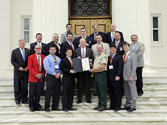 04-15-2015 Firefighters Association receives Proclamation from Governor Bentley