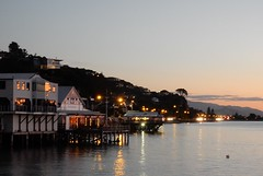 On Stilts in Nelson (mikecogh) Tags: dusk nelson stilts foreshore