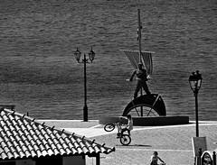 Cycling on Skiathos / Vonja bajsa na Skijatosu (mardukkk) Tags: sea blackandwhite bw port island greek blackwhite nikon day outdoor greece more skiathos luka nikond3200 nikoneurope skijatos nikonserbia