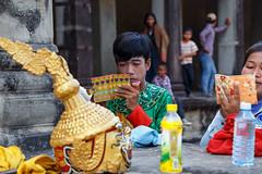 "Angkor Wat ""Performers"" (silkylemur) Tags: canon lens temple ruins asia cambodia angkorwat fullframe siemreap angkor canoneos zoomlens llens 24105mm canonef canonef24105mmf4l canonef24105mmf4lisusm  eflens canonef24105mmf4lisusmlens efmount canon6d canoneos6d krongsiemreap"