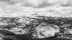 Clark Range (zh3nya) Tags: above blackandwhite bw mountain monochrome forest outdoors grey view hiking gray grand mount alpine yosemite clark granite summit d750 vista yosemitenationalpark wilderness sierranevada domes highsierra distant lostvalley sigma35mmf14